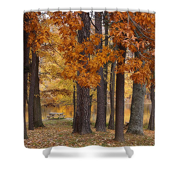 Autumn View Shower Curtain by Sandy Keeton
