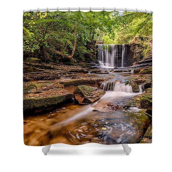 Autumn Waterfall Shower Curtain by Adrian Evans