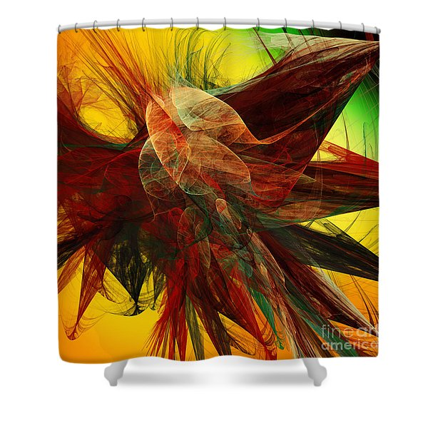 Autumn Wings Shower Curtain by Andee Design