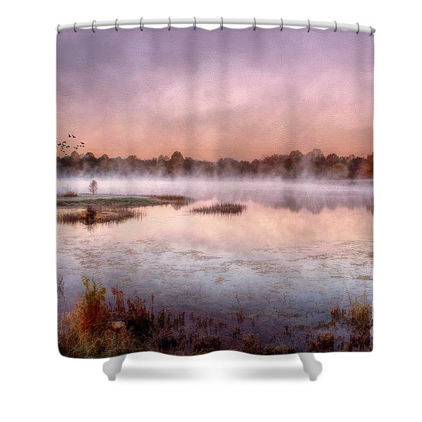 Autumns Light Shower Curtain by Darren Fisher