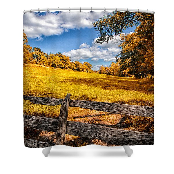 Autumns Pasture Shower Curtain by Bob Orsillo