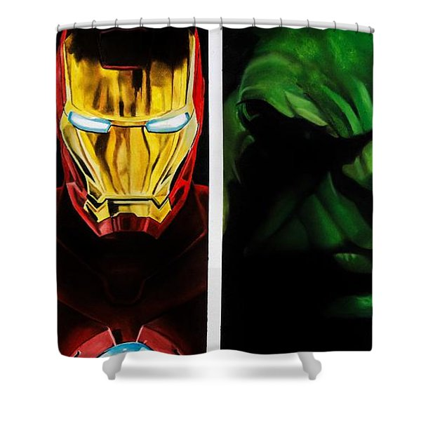 Avengers Shower Curtain by Brian Broadway