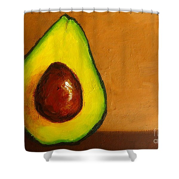 Avocado Palta VI Shower Curtain by Patricia Awapara