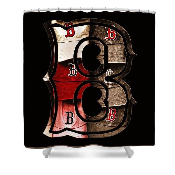 B For Bosox - Vintage Boston Poster Shower Curtain by Joann Vitali