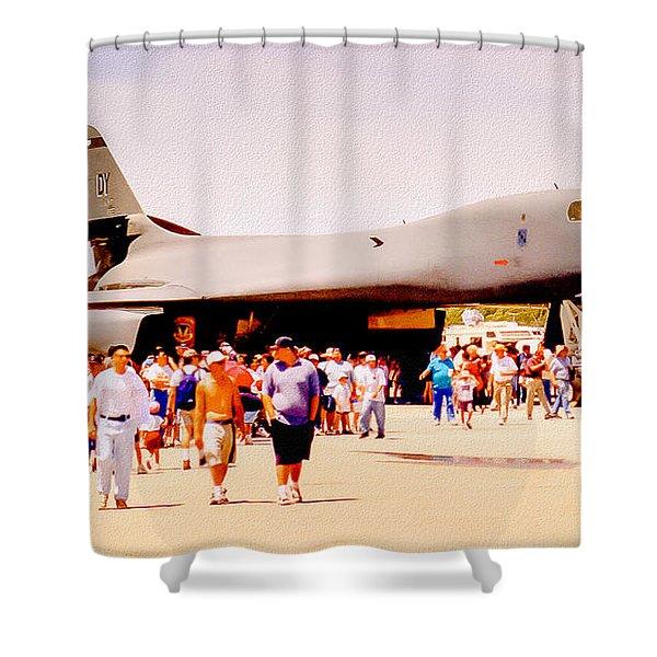B1 Lancer El Toro Marine Base California Shower Curtain by Bob and Nadine Johnston
