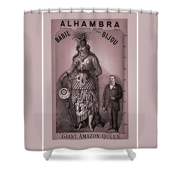 Babil And Bijou - Giant Amazon Queen Shower Curtain by Maciej Froncisz