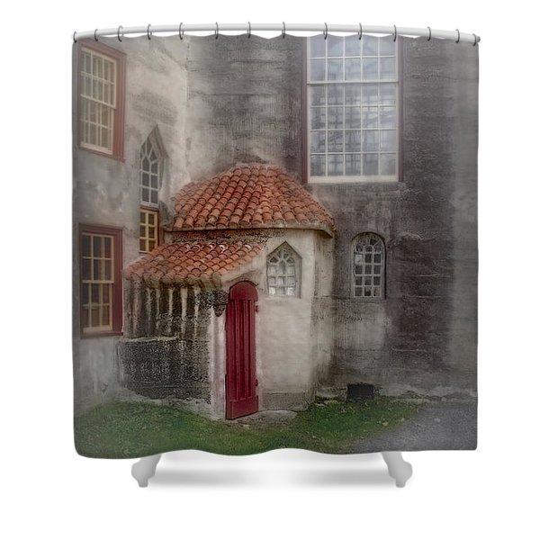 Back Door To The Castle Shower Curtain by Susan Candelario