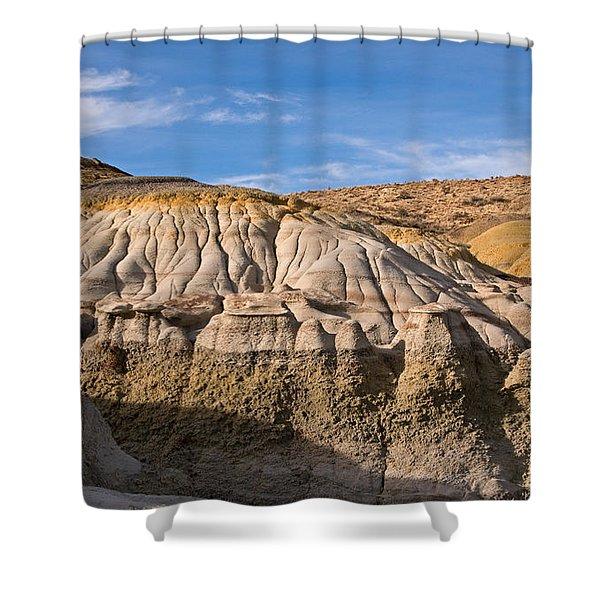 Badlands Erosion Shower Curtain by Vivian Christopher