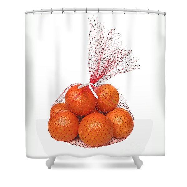 Bag Of Oranges Shower Curtain by Ann Horn