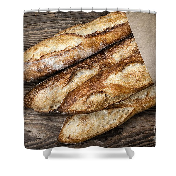 Baguettes Bread Shower Curtain by Elena Elisseeva