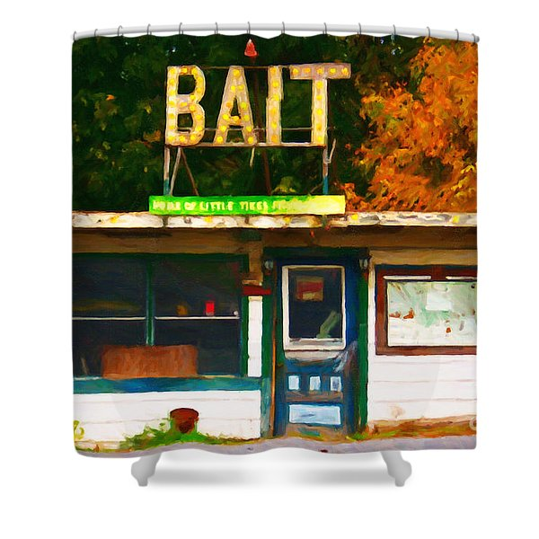 Bait Shop 20130309-3 Shower Curtain by Wingsdomain Art and Photography