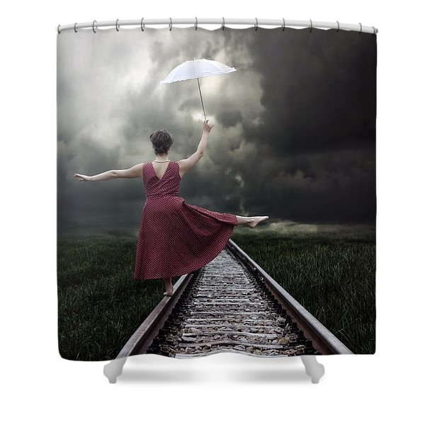 Balancing Shower Curtain by Joana Kruse
