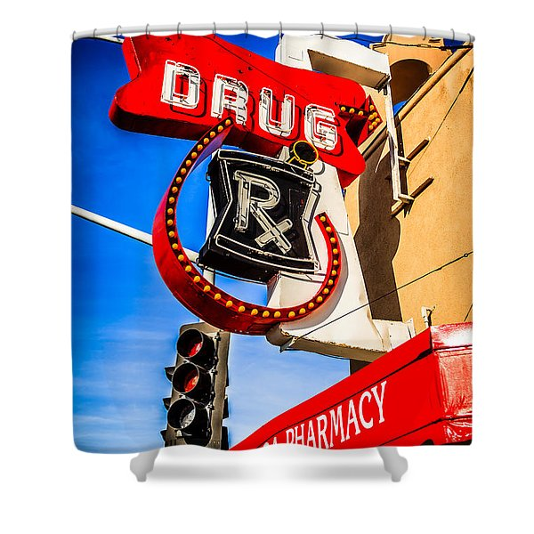 Balboa Pharmacy Drug Store Newport Beach Photo Shower Curtain by Paul Velgos