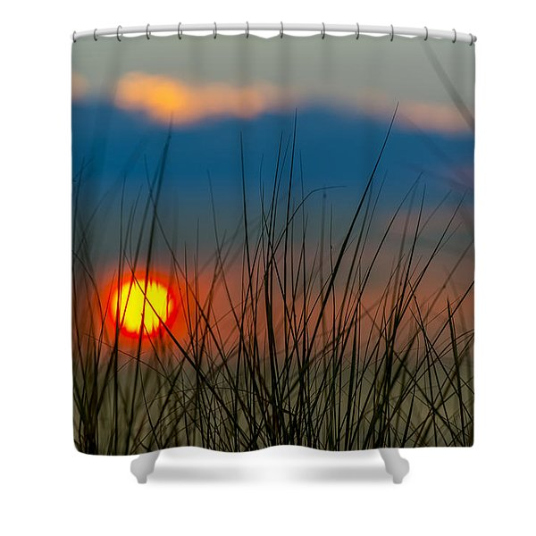 Ball Of Fire Shower Curtain by Sebastian Musial
