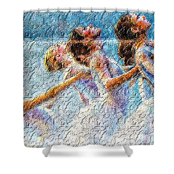 Ballerinas Shower Curtain by M and L Creations