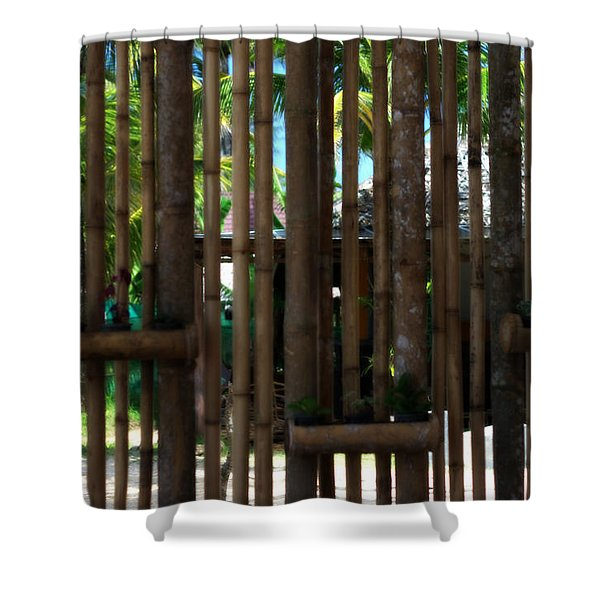 Bamboo View Shower Curtain by Nomad Art And  Design