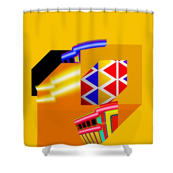 Banana Boat Shower Curtain by Charles Stuart