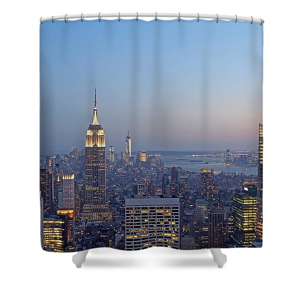 Bank of America and Empire State Building Shower Curtain by Juergen Roth