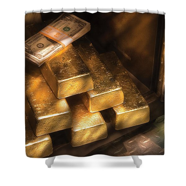 Banker - My Precious  Shower Curtain by Mike Savad