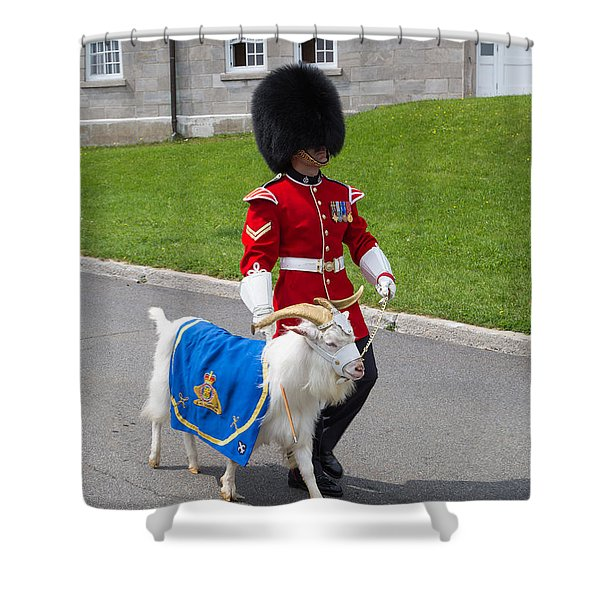 Baptiste the Goat Shower Curtain by Edward Fielding