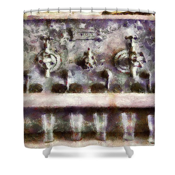 Bar - For a real Jerk Shower Curtain by Mike Savad