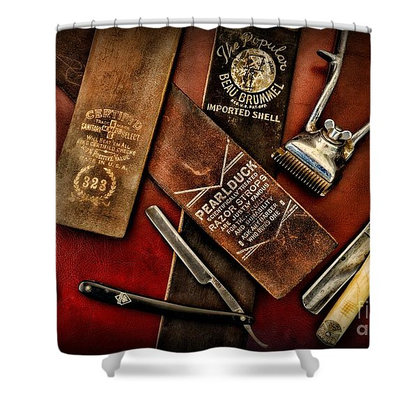 Barber - Barber Tools of the Trade Shower Curtain by Paul Ward