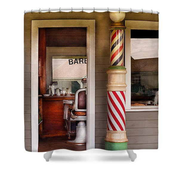 Barber - I Need A Hair Cut Shower Curtain by Mike Savad