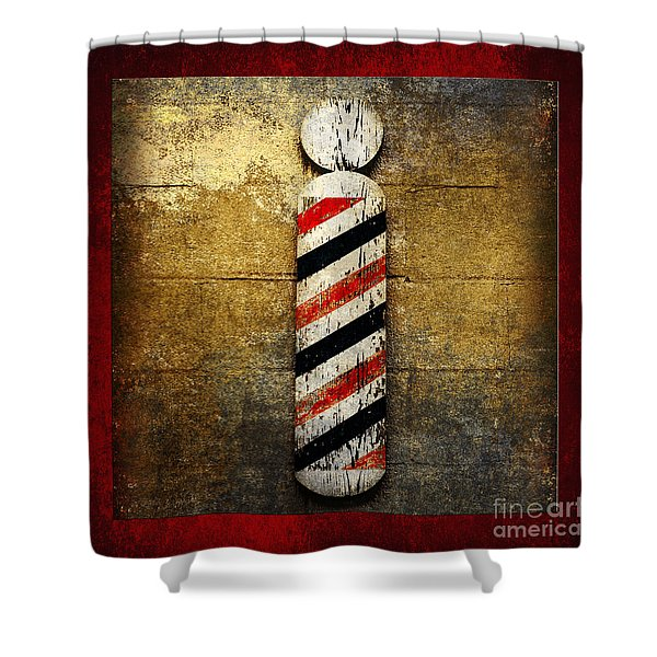 Barber Pole Square Shower Curtain by Andee Design