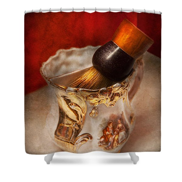 Barber - Shaving - The beauty of barbering Shower Curtain by Mike Savad