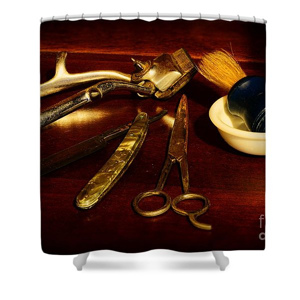 Barber - things in a barber shop Shower Curtain by Paul Ward