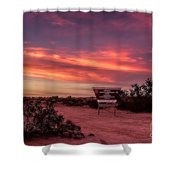 Barry Goldwater Range Shower Curtain by Robert Bales
