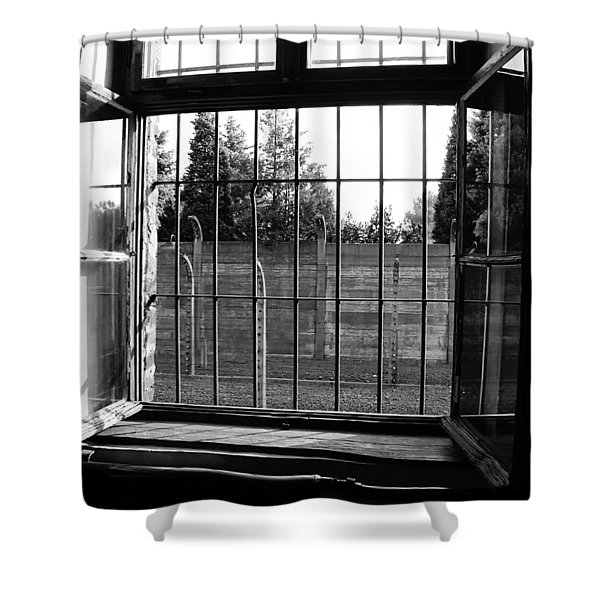 Bars Of Misery Shower Curtain by Mountain Dreams