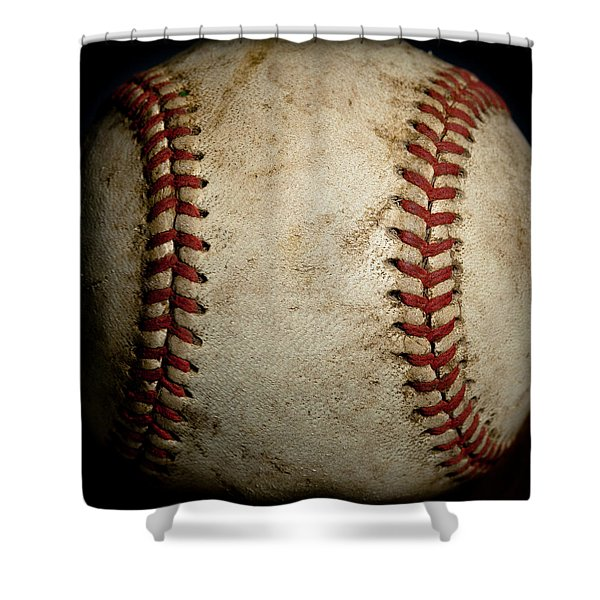 Baseball Seams Shower Curtain by David Patterson