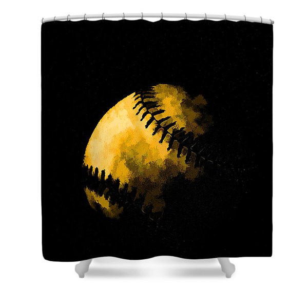 Baseball the American Pastime Shower Curtain by Edward Fielding