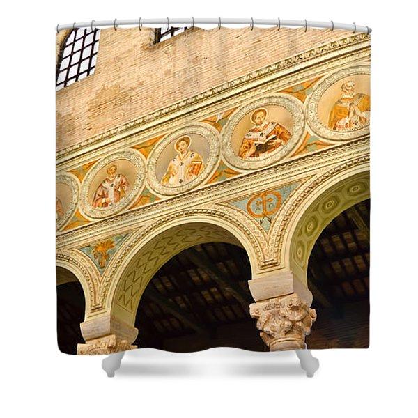 Basilica di Sant' Apollinare Nuovo - Ravenna Italy Shower Curtain by Jon Berghoff