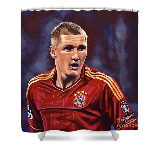 Bastian Schweinsteiger Shower Curtain by Paul Meijering