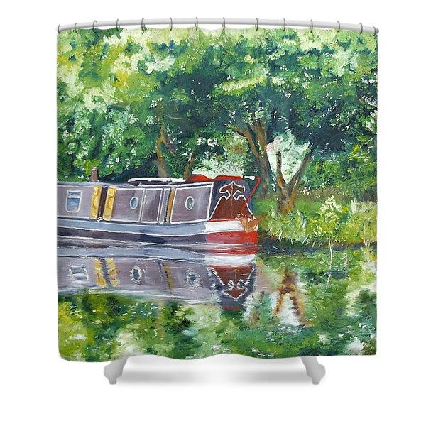 Bateau Sur Riviere Shower Curtain by I F Abbie Shores