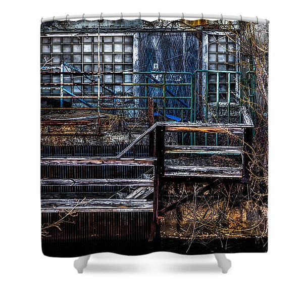 Bates Mill No 5 Shower Curtain by Bob Orsillo
