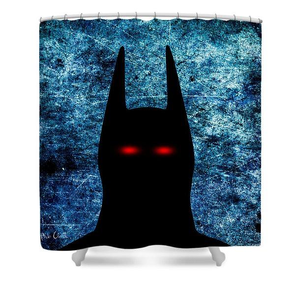 Batman - Dark Knight Number 1 Shower Curtain by Bob Orsillo