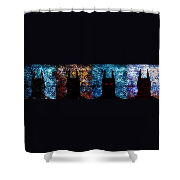 Batman - The Dark Knight Shower Curtain by Bob Orsillo