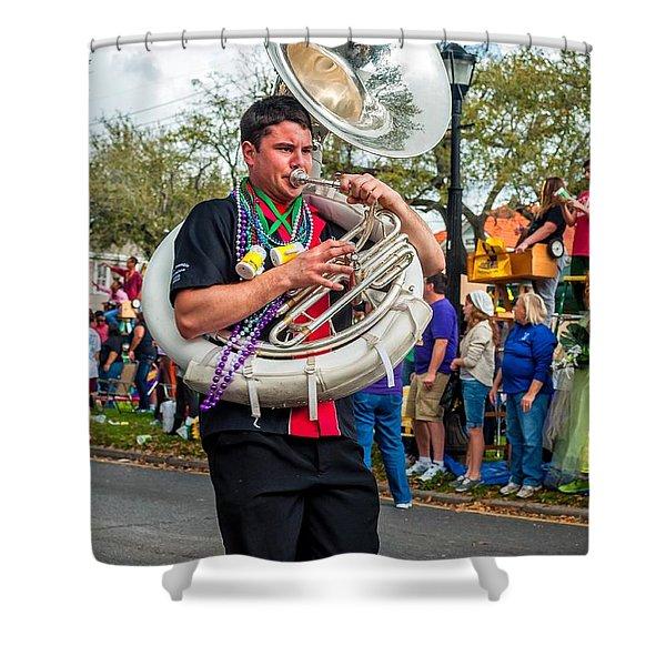 Battered Tuba Blues 3 Shower Curtain by Steve Harrington