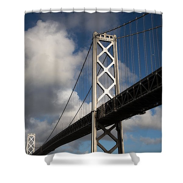 Bay Bridge after the Storm Shower Curtain by John Daly