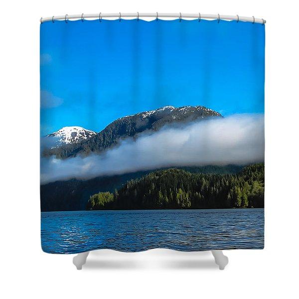 BC Coastline Shower Curtain by Robert Bales