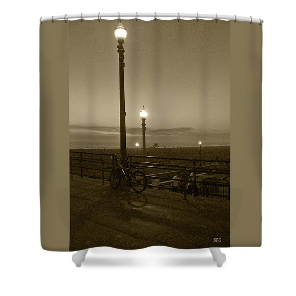 Beach At Night Shower Curtain by Ben and Raisa Gertsberg