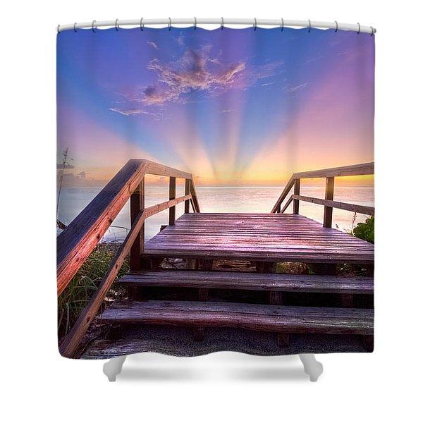 Beach Dreams Shower Curtain by Debra and Dave Vanderlaan