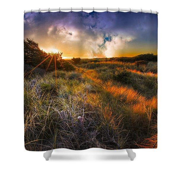 Beach Dunes Shower Curtain by Debra and Dave Vanderlaan