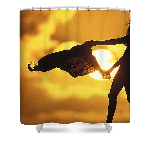 Beach Girl Shower Curtain by Sean Davey