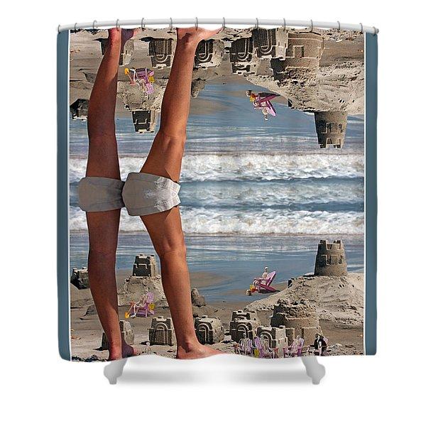 Beach Scene Shower Curtain by Betsy C  Knapp