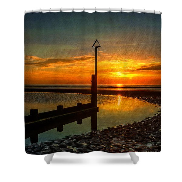 Beach Sunset Shower Curtain by Adrian Evans