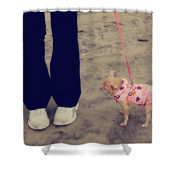 Beach Walk Shower Curtain by Laurie Search